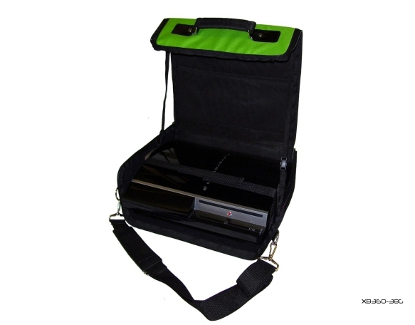 Product Photo/Green Console Carry Bag Case In Car 4 Playstation 3 PS3/Click to view.