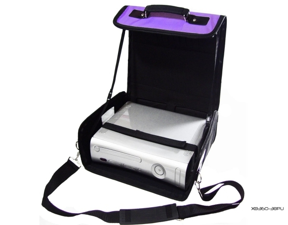 Product Photo/Purple Deluxe Console Carry Bag Case for Xbox 360 Slim/Click to view.