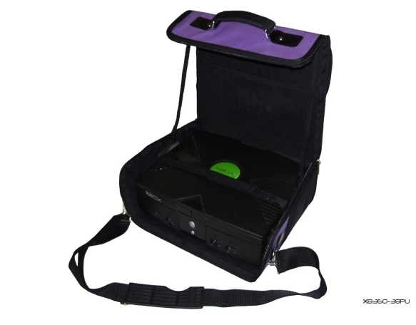 Product Photo/Purple Deluxe Console Carry Bag Case In Car 4 Xbox UK/Click to view.