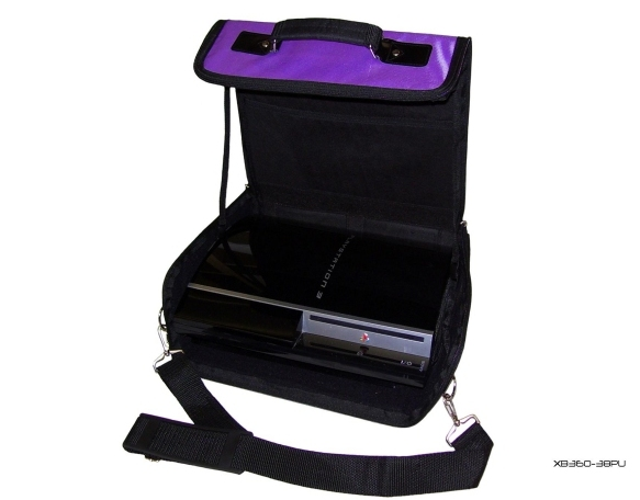 Product Photo/Purple Console Carry Bag Case for Playstation 3 PS3 UK/Click to view.