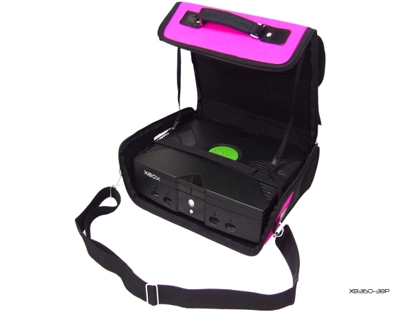 Product Photo/Pink Deluxe Console Carry Bag Case In Car for Xbox UK/Click to view.