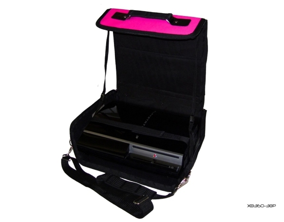Product Photo/Pink Console Carry Bag Case for Playstation 3 Slim PS3/Click to view.
