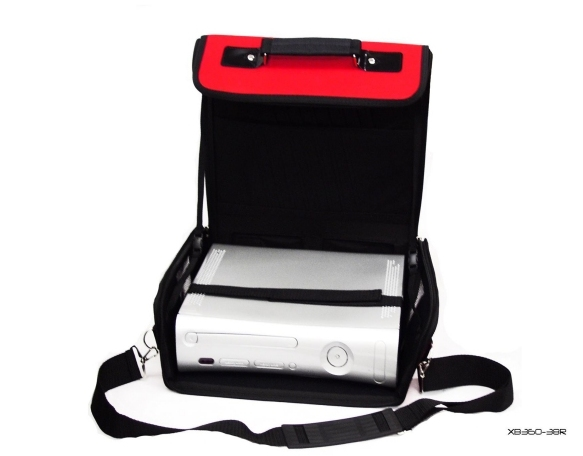 Product Photo/Red Deluxe Console Carry Bag Case for Xbox 360 Slim/Click to view.