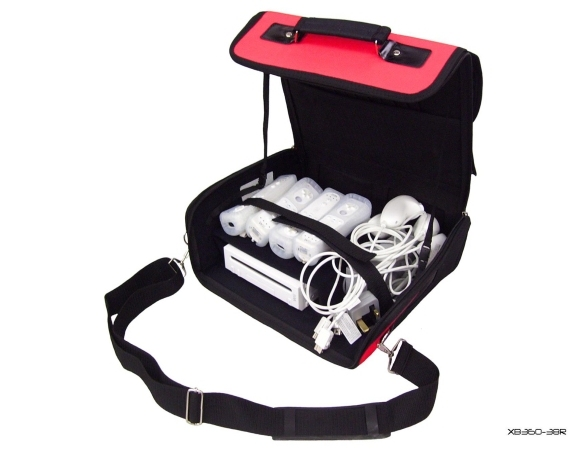 Product Photo/Red Console Carry Bag Case In Car 4 Nintendo Wii/Click to view.