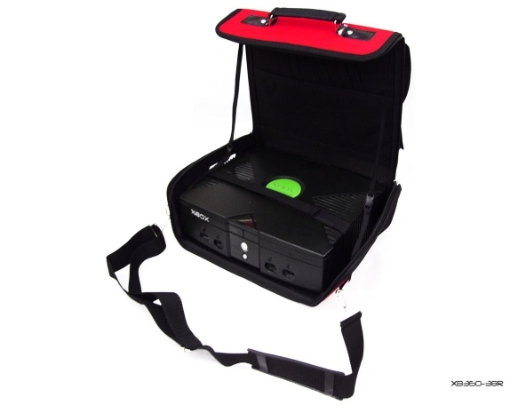 Product Photo/Red Deluxe Console Carry Bag Case In Car for Xbox UK/Click to view.