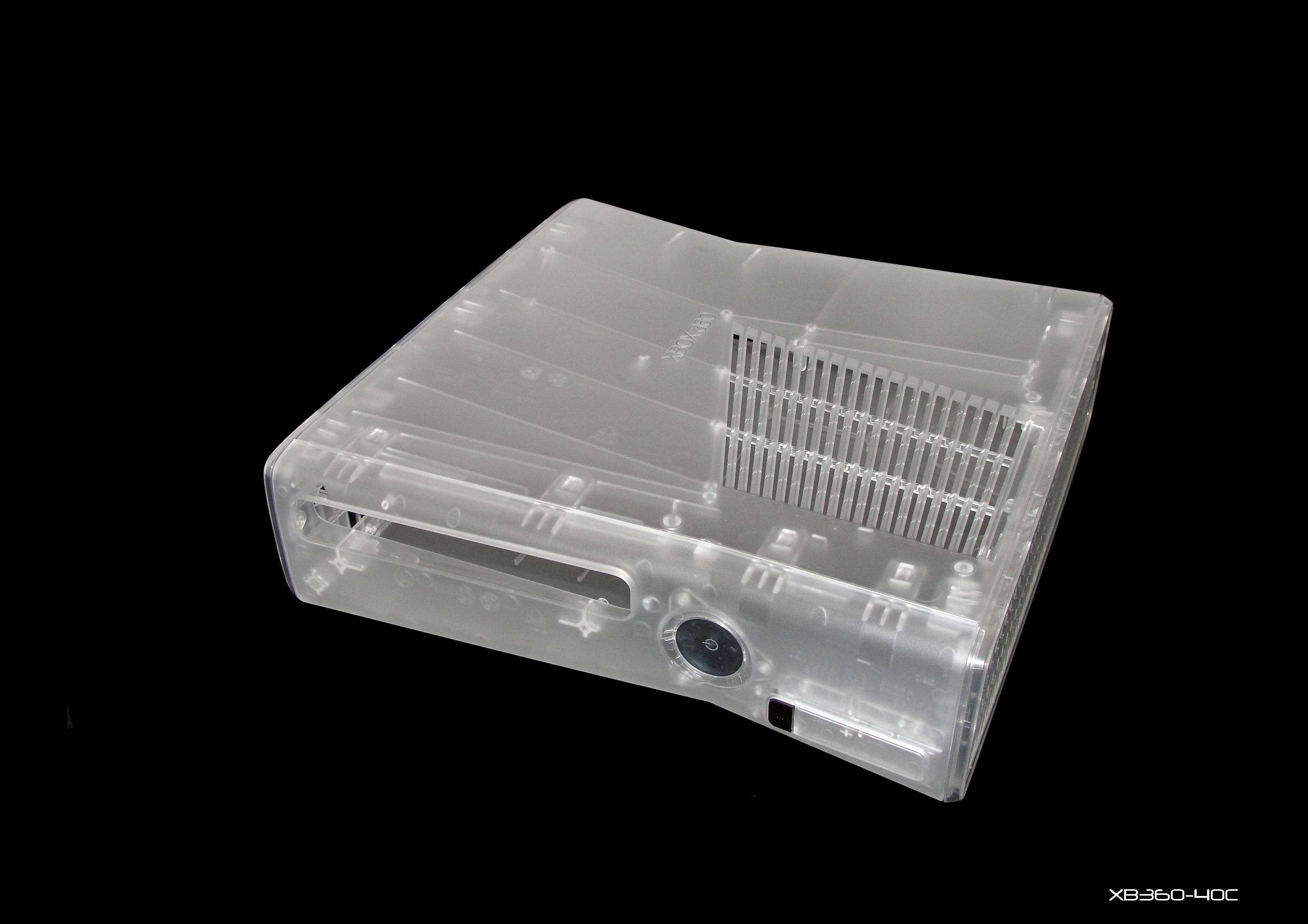 Xbox 360 Slim Console Mods Clear Deluxe Fu...