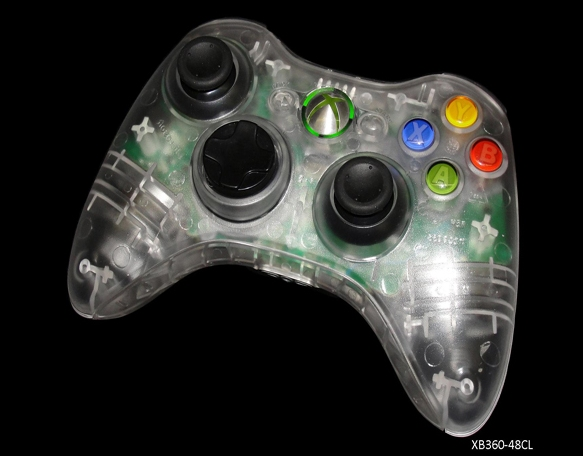 Product Photo/Xbox 360 Clear Controller - World At War/Click to view.