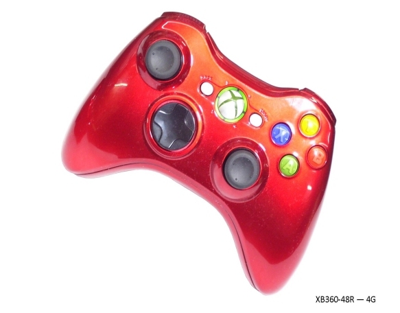Product Photo/Xbox 360 Red Controller - World At War/Click to view.