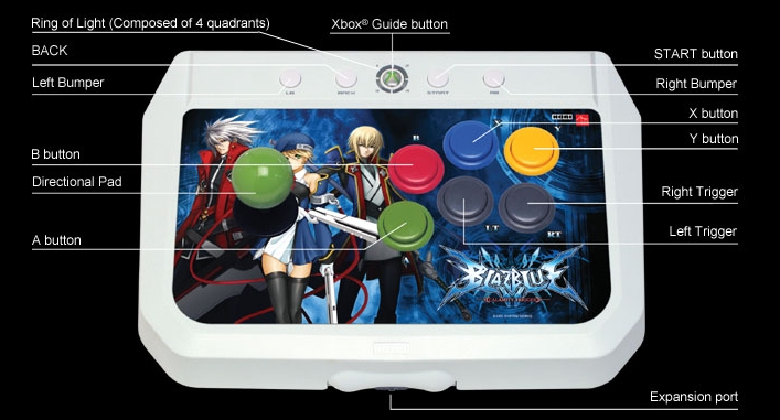 Product Photo/Xbox 360 Blazblue Arcade Stick EX2/Click to view.
